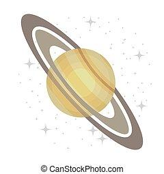 planète, manière, isolé, icon., galaxie, laiteux