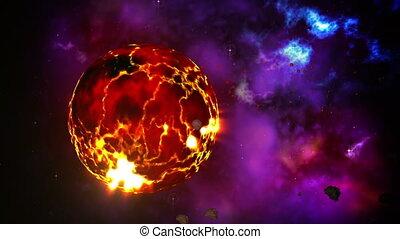 planète, naissance, boucle