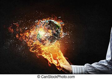 planète, notre, danger