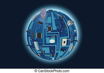 planète, numérique