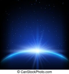 planète, résumé, fond, espace