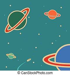 planète, space.
