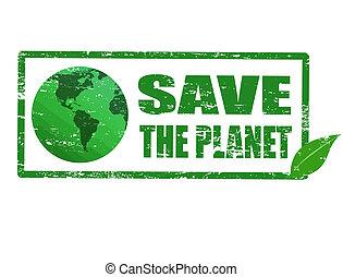 planète, timbre, sauver