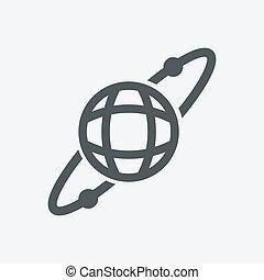 planète, vecteur, espace illustration