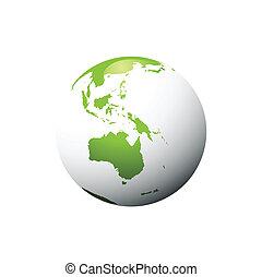 planète, vert, concept, écologie, vecteur