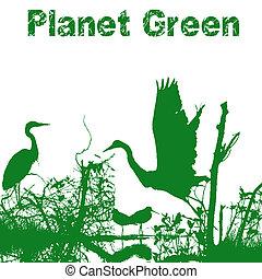 planète, vert, nature