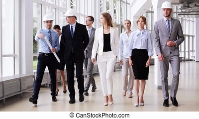 plan, casques, 58, bureau affaires, équipe