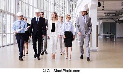 plan, casques, bureau, business, 54, équipe