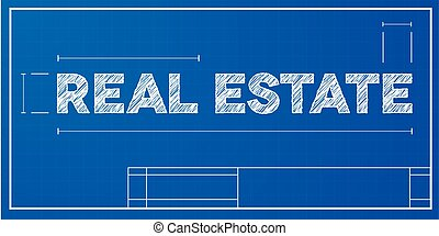 plan, immobiliers