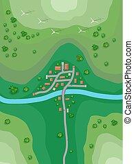 plan, paysage