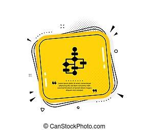 plan, signe., icon., sentier, bloc, vecteur, diagramme