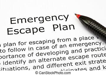 plan, urgence, évasion