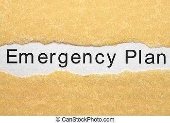 plan, urgence