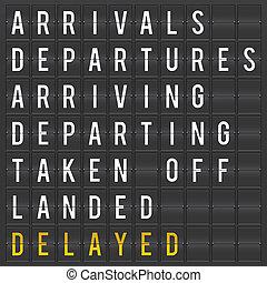 planche, aéroport, départ