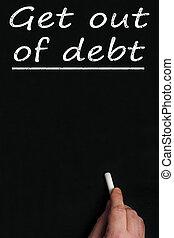 planche, obtenir, noir, dette, dehors