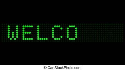 planche, signe, électronique, eclats, accueil, disappears, apparaît