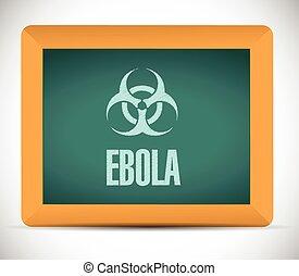 planche, signe, illustration, ebola