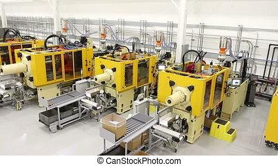 plancher, usine, machinerie