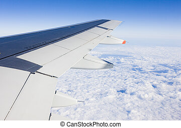 plane's, transport, -, aile, air