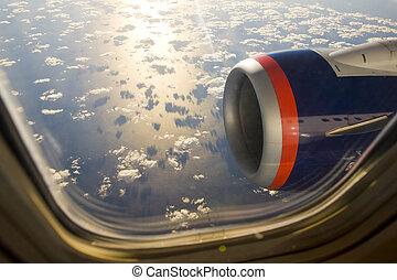 plane's, transport, -, moteur, air