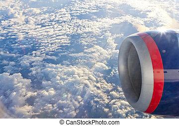 plane's, -, transport, moteur, air