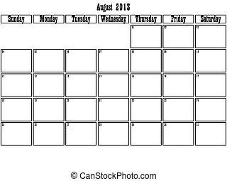 planificateur, août, 2013