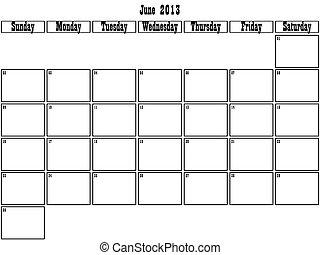 planificateur, juin, 2013