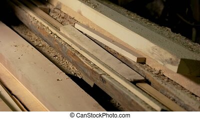 planks., charpenterie, fond, bois