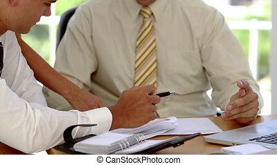 plans, discussion affaires, équipe