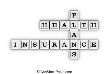 plans, puzzle., mots croisés, assurance maladie, soin