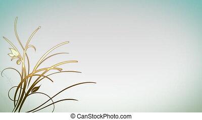 plante, croissant, fond