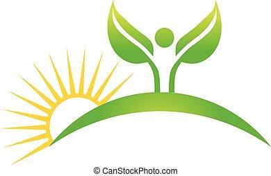 plante, graphique, nature, cuktivated, vecteur, conception, logo.