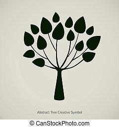plante, illustration., nature, résumé, arbre, vecteur, conception, symbole
