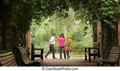 plante, jouer, famille, tunnel, jeu, parc