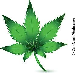 plante, marijuana, cannabis, vecteur, logo, icône