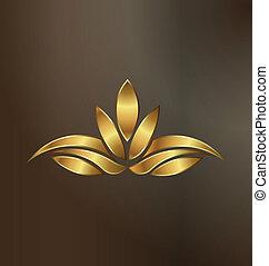 plante, or, lotus, image, luxe, logo