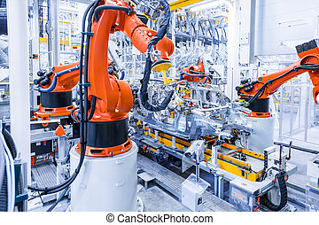 plante, voiture, robots