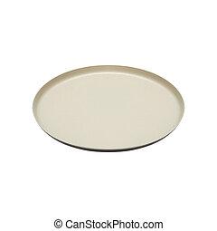 plaque, blanc, isolé, fond