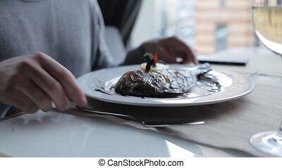 plaque, fish, frit