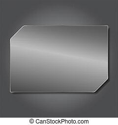 plaque, métal