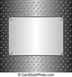 plaque, métallique