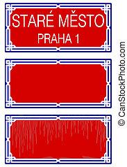 plaque, rue