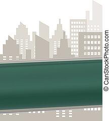 plaque, rue, vert, signe