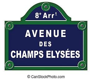 plaques, avenue, parisien