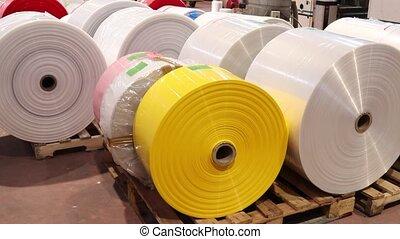 plastique, wideshot, usine