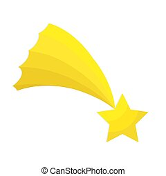 plat, étoile, illustration, vecteur, bethlehem, blanc, icône, noël, stockage