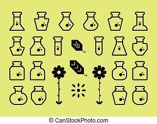 plat, alchimie, icônes