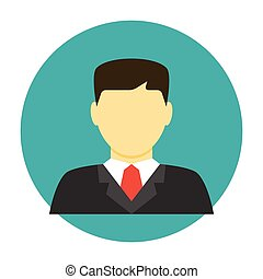 plat, avatar, avocat, icône