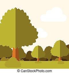 plat, background19, forêt, profond