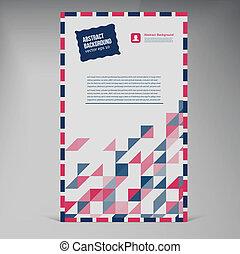 plat, banner., couleur, enveloppe, vecteur, ui